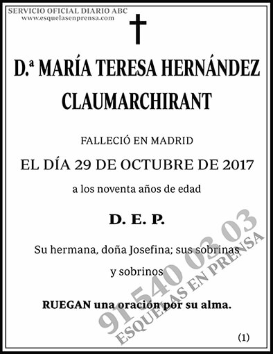 María Teresa Hernández Claumarchirant